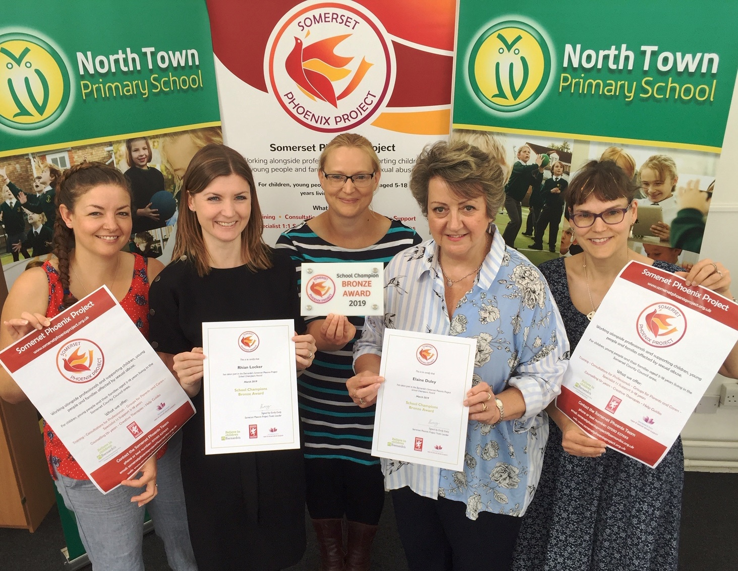 School Champion Award for North Town Primary
